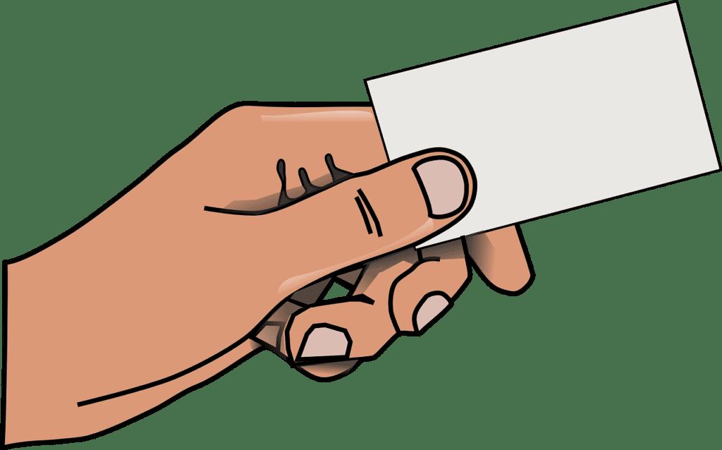 Etykieta biznesu - jak wręczać wizytówkę?